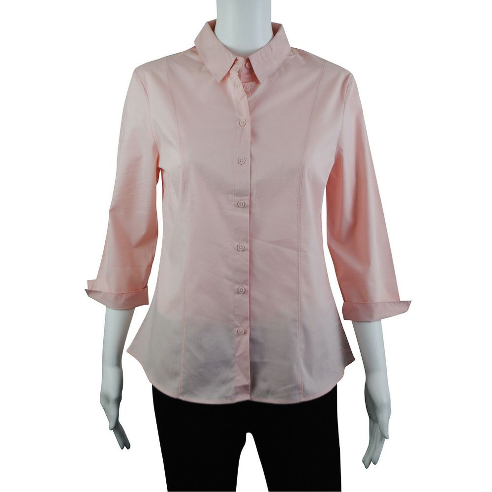 06025afce50f0c Wholesale Womens Shirts & Blouses - Wholesale Womens Ex Chainstore 3/4  Split Sleeve Shirt Blouse Work Pink - Womens Wholesale Clothing ...